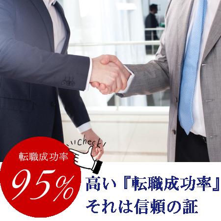 弊社ティ・アイ・エス株式会社の誇りは高い転職成功率です。また、転職後の離職率は3%でこちらも高水準の数値を保っています。